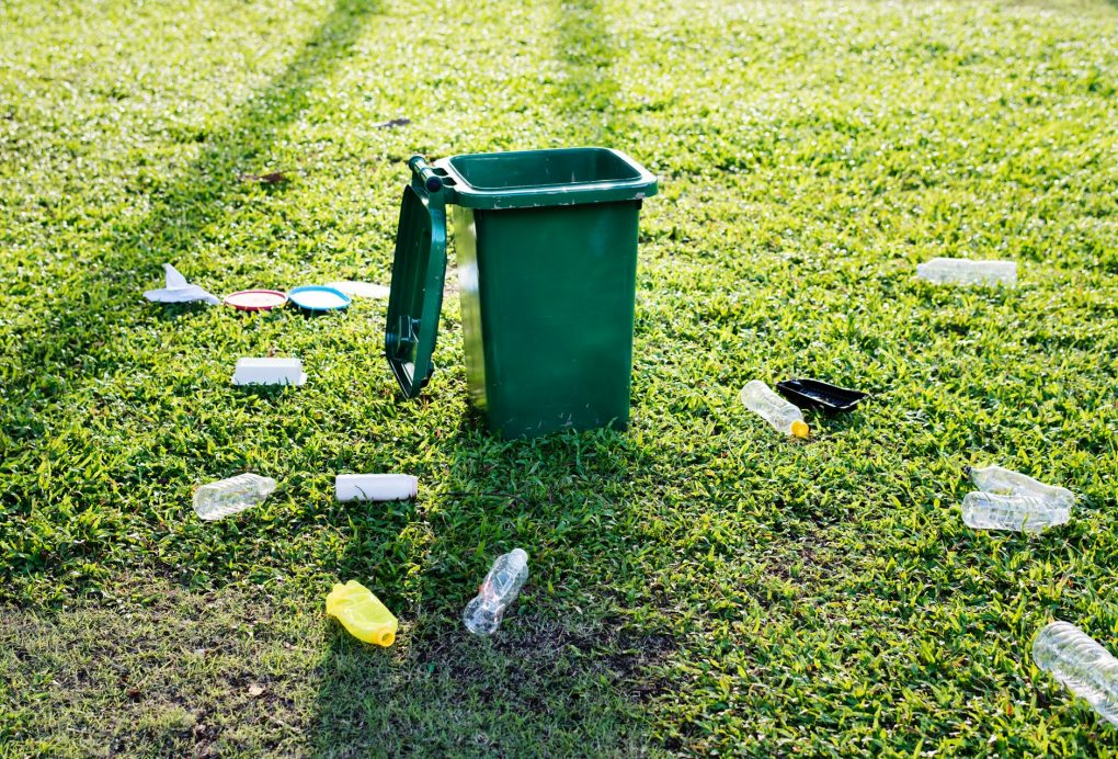 återvunnen plast