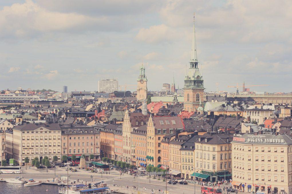 Stockholm som ligger centralt
