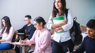 elever som lär sig matematik